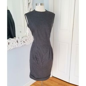 Burberry Authentic Wool/Cashmere Blend Gray Dress